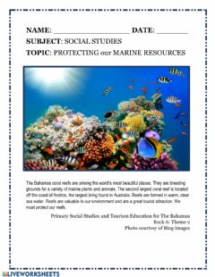 Interactive worksheet Protecting Our Marine Resources