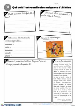 Interactive worksheet Le feuilleton d'Hermès - épisode 31