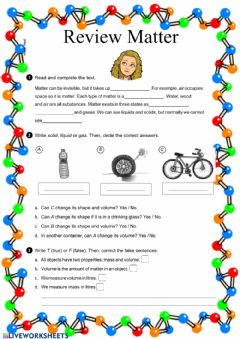 Interactive worksheet Review Matter