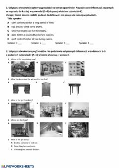 Interactive worksheet 1) listening and reading kl. 8