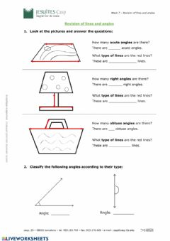 Interactive worksheet Revision lines and angles
