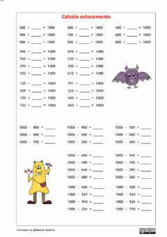 Interactive worksheet Formare il 1000