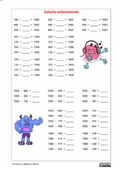 Interactive worksheet Formare il 1000 2