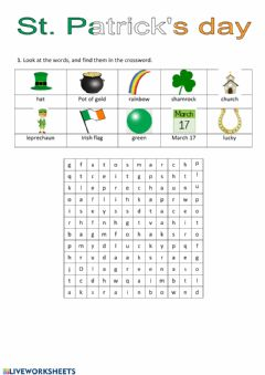 Interactive worksheet St. Patricks' Day