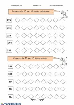Interactive worksheet Numeración 1