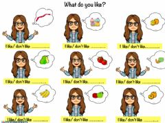 Interactive worksheet What do you like?