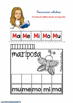 Interactive worksheet Sílabas