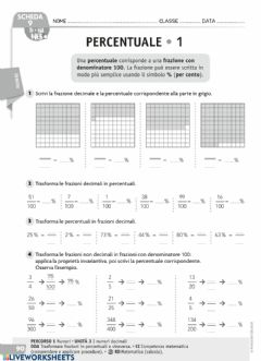 Interactive worksheet La percentuale