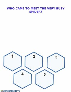 Interactive worksheet The very busy spider