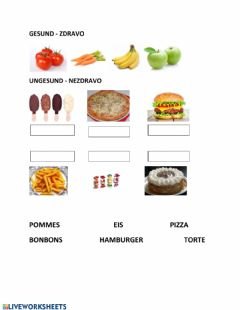Interactive worksheet Gesund - ungesund