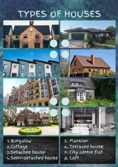 Ficha interactiva Types of houses