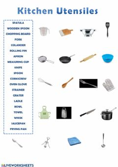 Interactive worksheet Kitchen Utensiles