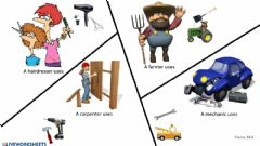 Interactive worksheet Technology:jobs and tools