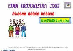 Ficha interactiva ALL TOGETHER NOW (actividades)