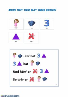 Interactive worksheet Mein Hut