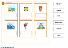 Interactive worksheet vocabulario verano I