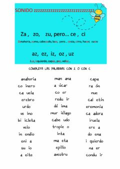 Interactive worksheet Con ceta o con ce