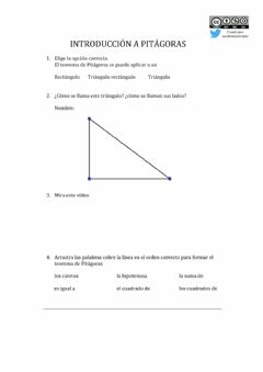 Interactive worksheet Introducción a Pitágoras