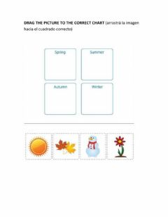 Interactive worksheet Months and seasons