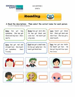 Interactive worksheet Reading and Writing - Have got