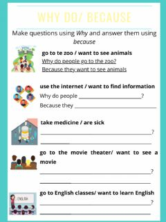 Interactive worksheet Why do - Because