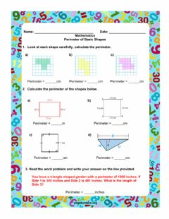 Interactive worksheet Perimeter of Basic Shapes