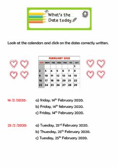 Interactive worksheet The date