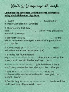 Interactive worksheet Business Language at work