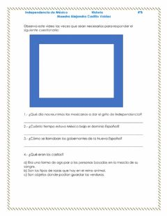 Interactive worksheet Independencia de mexico