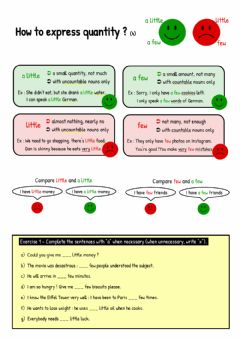Interactive worksheet How to express quantity (4)