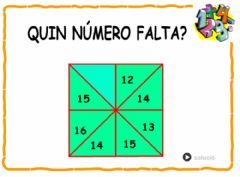 Interactive worksheet Quin nombre falta?