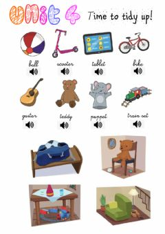 Interactive worksheet Time to tidy up!