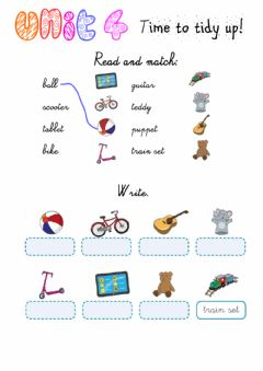 Interactive worksheet Time to tidy up! Exercises