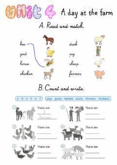 Interactive worksheet A day at the farm! Exercises