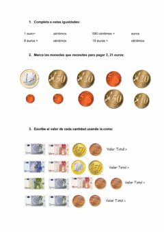 Interactive worksheet Dinero