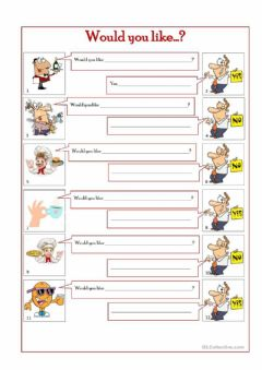 Interactive worksheet Isl colective -would you like..?