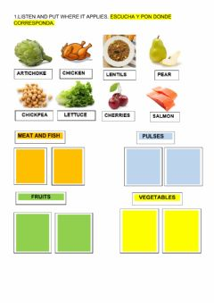 Interactive worksheet healthy food