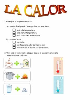 Interactive worksheet La calor