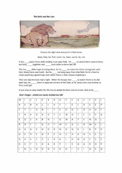 Interactive worksheet The bulls and the lion