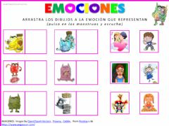 Interactive worksheet Las emociones 1