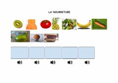 Interactive worksheet La nourriture 5º Primaria