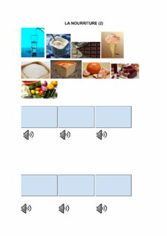Interactive worksheet La nourriture (2) 5º Primaria