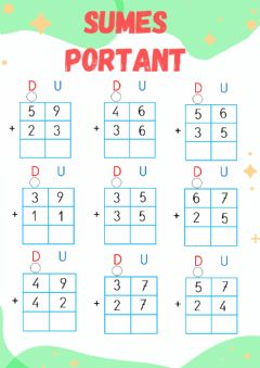 Interactive worksheet Suma portant