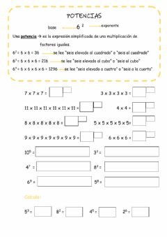 Interactive worksheet Potencias