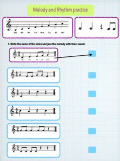 Interactive worksheet Melody and rhythm practice