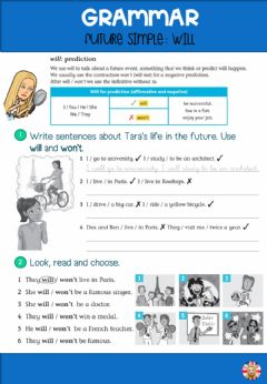 Interactive worksheet Future simple. will