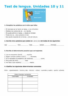 Interactive worksheet Test Lengua
