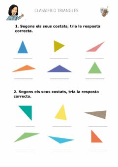 Interactive worksheet Classifico triangles