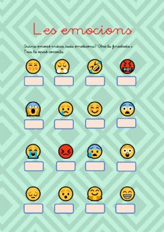 Interactive worksheet Les emocions