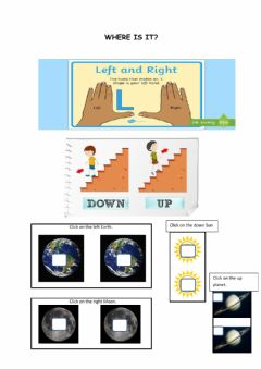Ficha interactiva Water vocabulary and positions